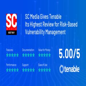 Tenable obtiene la calificación más alta de SC Media por su gestión de vulnerabilidades basada en riesgos