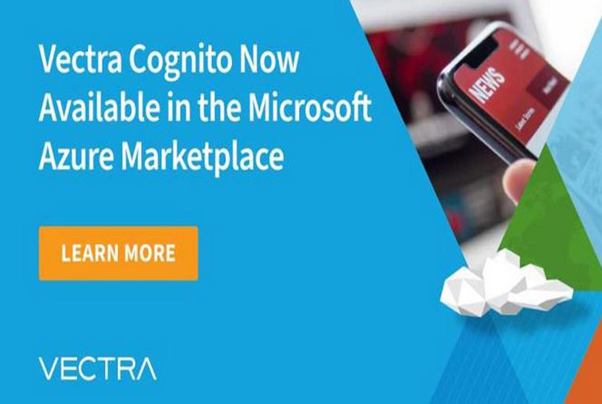 Vectra Cognito ahora disponible en Microsoft Azure Marketplace